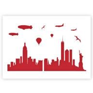 New York Skyline stencil sjabloon