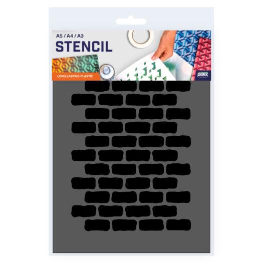 Baksteen patroon sjabloon stencil