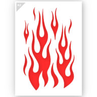 Vlammen Sjabloon Stencil A3