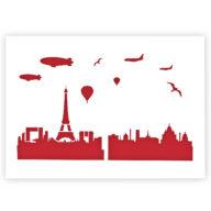 Parijs Skyline stencil sjabloon