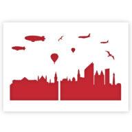 Den Haag Skyline stencil sjabloon