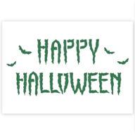 Happy Halloween sjabloon graffiti stencil
