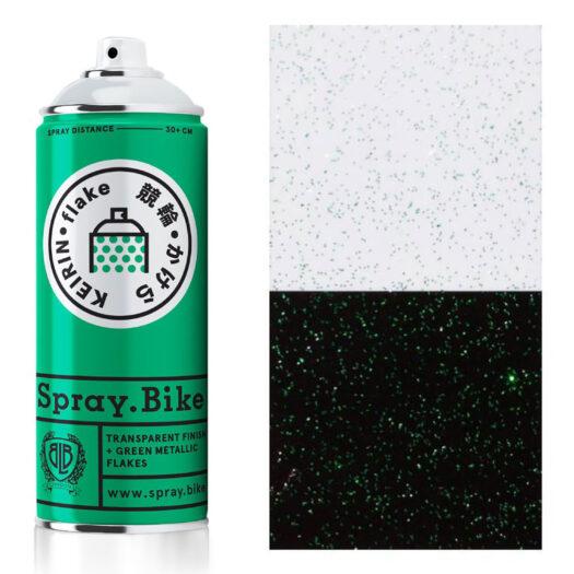Spray.Bike Keiran spray paint spuitfles groen kleur flake collection 400ml
