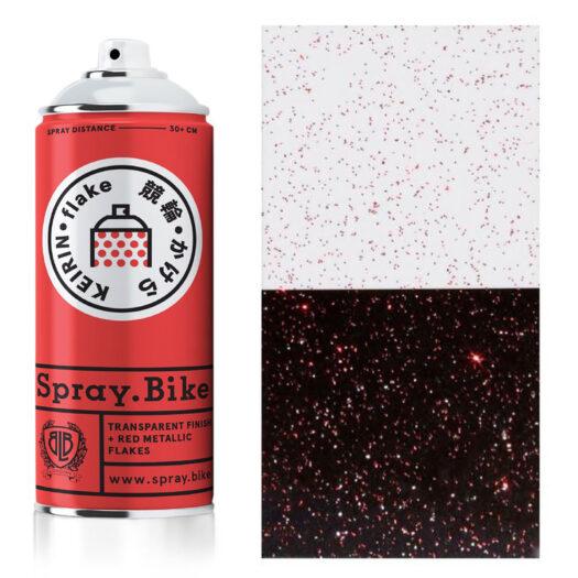 Spray.Bike Keiran spray paint spuitfles rood kleur flake collection 400ml