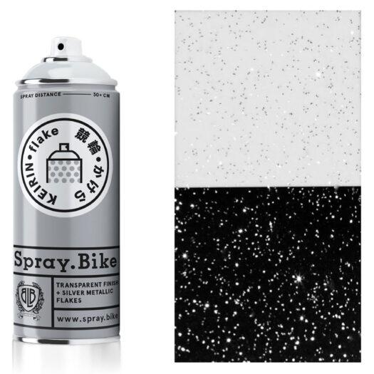 Spray.Bike Keiran spray paint spuitfles zilver kleur flake collection 400ml