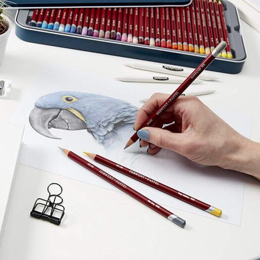 Derwent potloden set pastel potloden van 24 kleuren