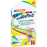 Textielstiften van Edding Funtastics set van 5