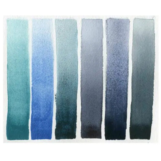 Daniel Smith Watercolor Half-Pans waterverf set Blues