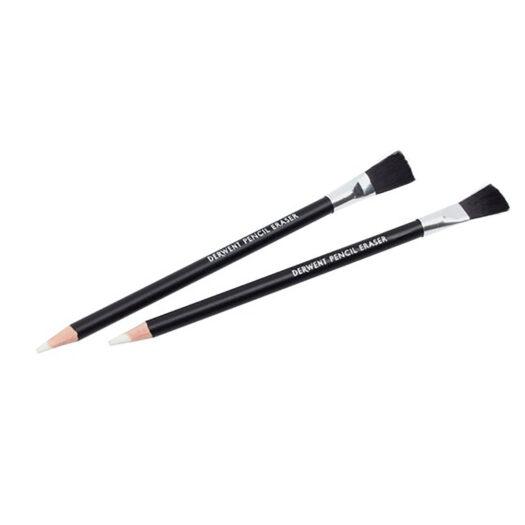 Derwent pencil eraser with brush voor potlood tekenen n potloodtekeningen potlood met gum potloden set tekenpotlood