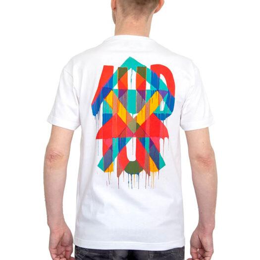 """1UP t-shirt """"Maya Hayuk"""" - white shirt 1UP crew"""