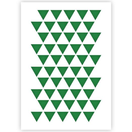 Driehoek patroon sjabloon stencil